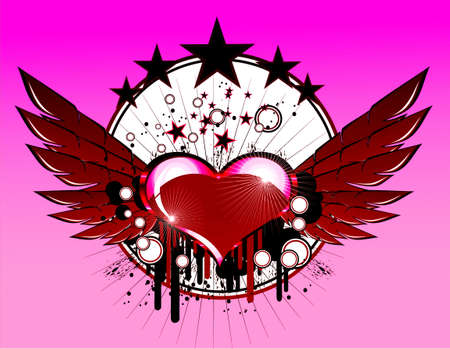 Abstract Love and Music Background photo