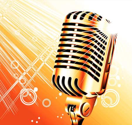 microfono antiguo: cosecha retro cantante con micr�fono resumen de antecedentes