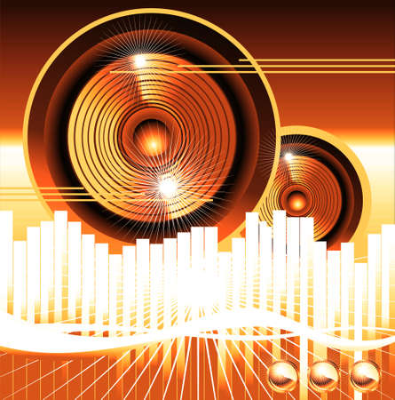Big speaker equalizer sound background photo