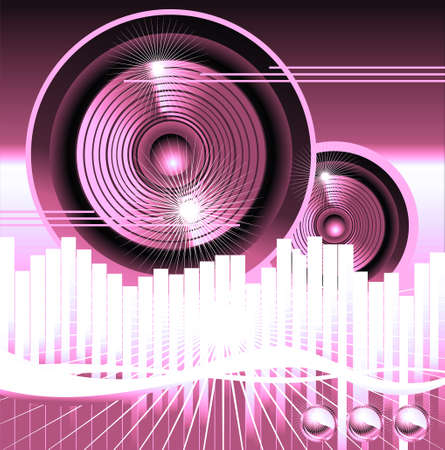 Big speaker equalizer sound background Stock Photo
