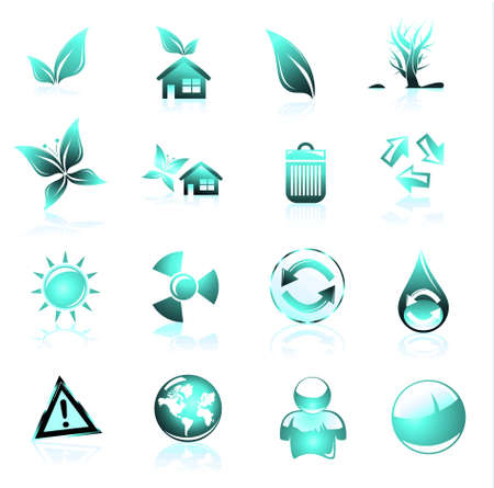 Collection of ecology and environmental icons Stock Photo - 4882957