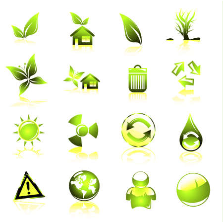 Collection of ecology and environmental icons Stock Photo - 4882846