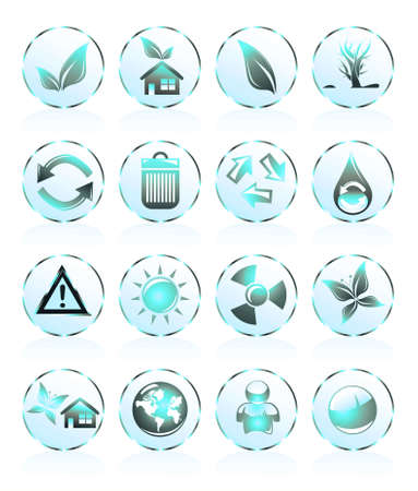 Collection of ecology and environmental icons Stock Photo - 4882854