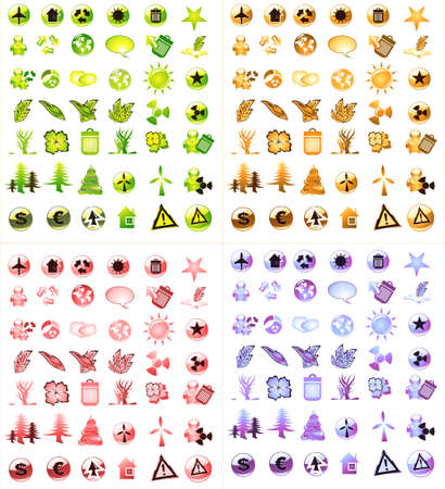 Collection of ecology and environmental icons Stock Photo - 4882888