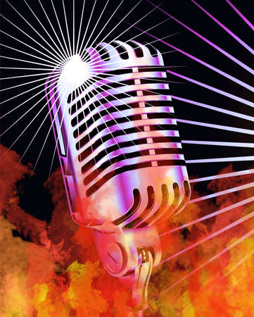 True Flames and Retro Microphone photo