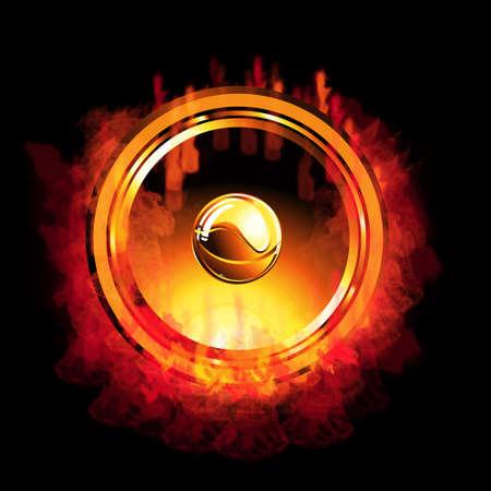 A burning hot music speaker Stock Photo - 4882893