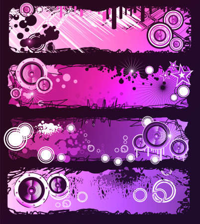 Colorful Grunge Style Music Banner photo