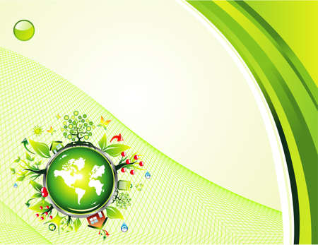 ozone friendly: environment safety background template Illustration