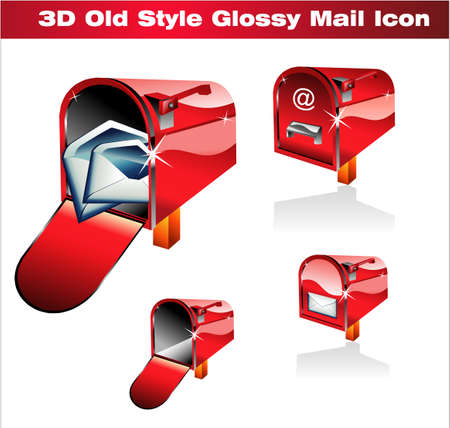 Old Style Red Classic Post Icon Vector