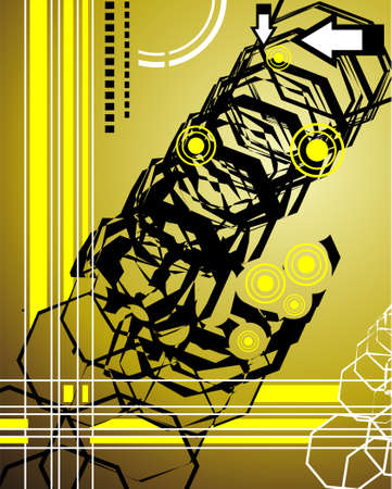 FAntasy art hi tech background Stock Vector - 4896146