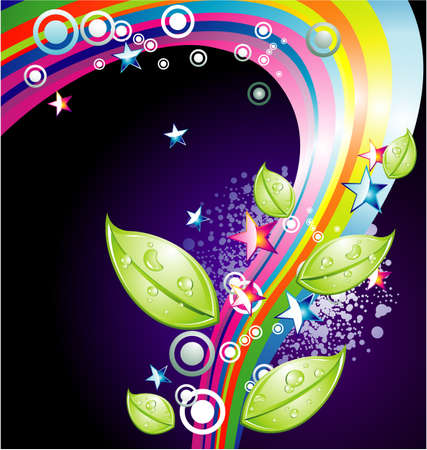 Background Mix of abstract colorful elements  Vector