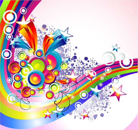 vintages: Background Mix of abstract colorful elements