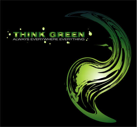 Abstract Green Concept Background to use for cover or brochure Stock Vector - 4896042