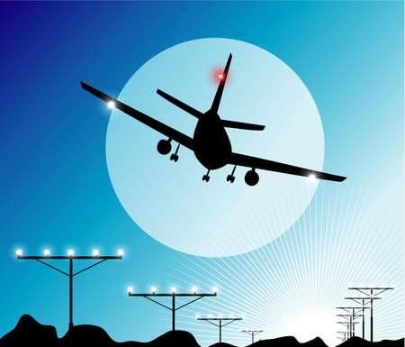boeing: Aeroplano che atterrano nel cielo