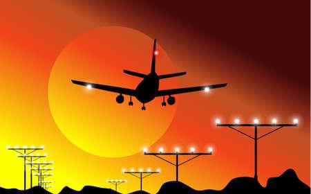 boeing: Airplane Landing in the sky
