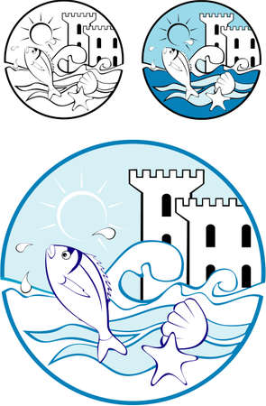 Water Park Design Elements for background or brochure Vector