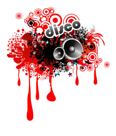 Abstract Red LIquid Drops Frame for music event Illustration