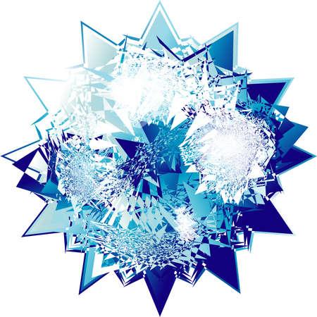 Fantasy design of an Abstract Diamond   Vector