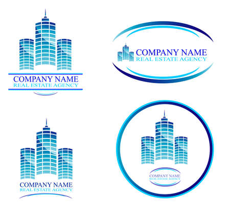 Real Estate and Construction Business Background with design elements