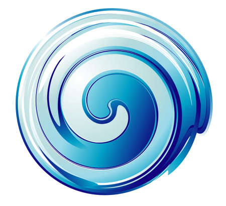 reflection in water: An abstract Blue Spiral design background Illustration