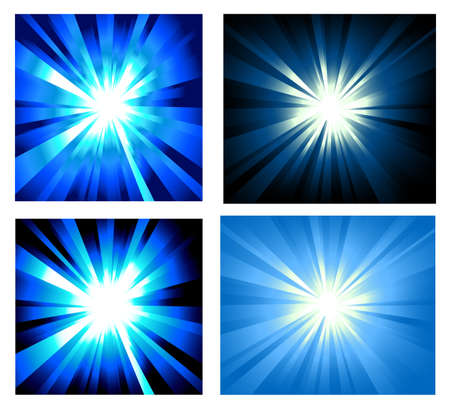 Collection of colorful Explosion of lights Vector