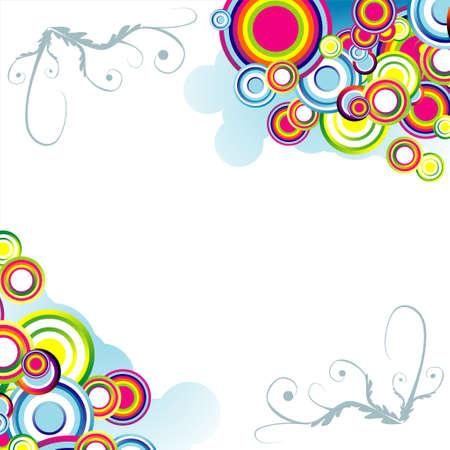 Bolle Absrtact e piante sfondo colorato