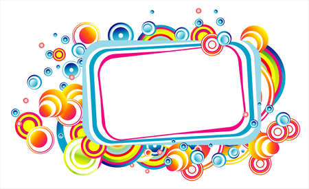 person shined: Colorful fantasy bubble frame to use for greeting cards
