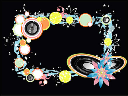 vynil: Abstract old style music event background Illustration