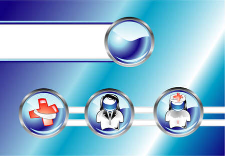 medico computer: Scheda abstract medica con campo di testo Vettoriali