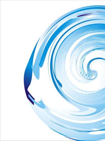 depliant: Vortex effect concept blue background
