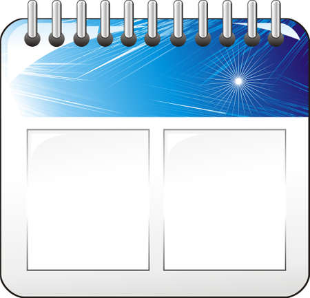 Wall calendar Icon with a colorful blue decoration Stock Vector - 4896053