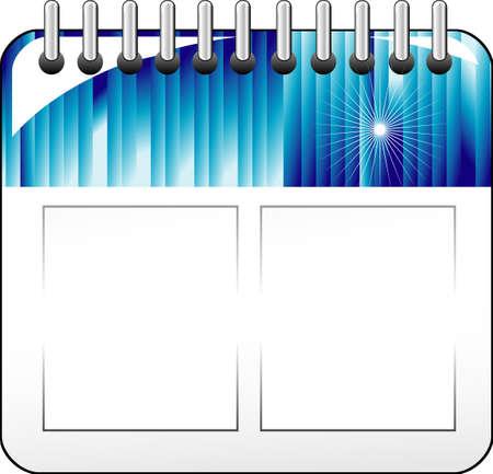 High detailed calendar wall icon Stock Vector - 4895953