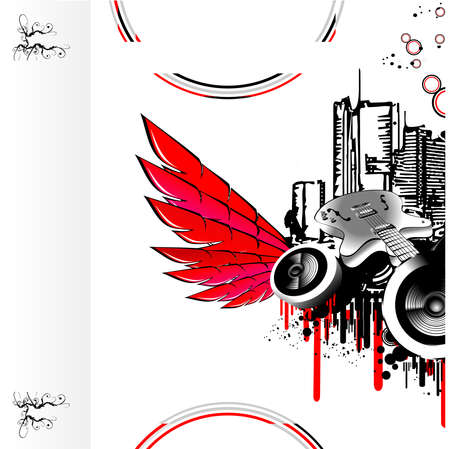 urban style: Urban style discoteque grunge background for flayers or card