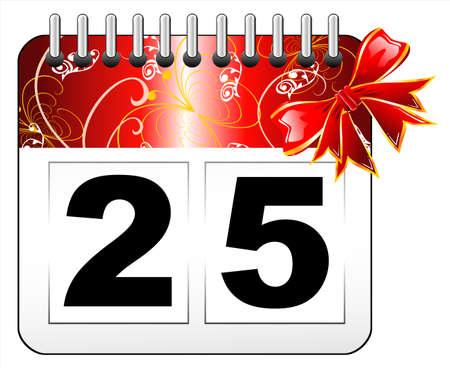 Red Christmas day calendar icon  Stock Vector - 4896187