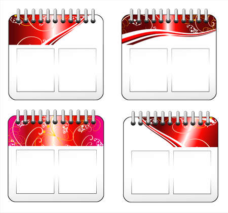 Red Christmas day calendar icon  Stock Vector - 4896322