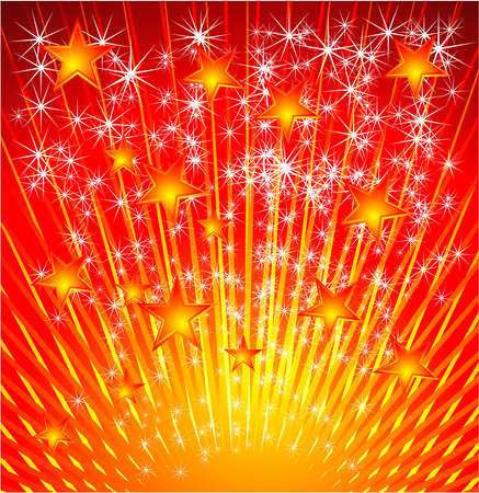 A fantasy star explosione Christams or festive background Vector
