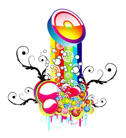 Fantasy Mix of abstract Colorful elements Vector