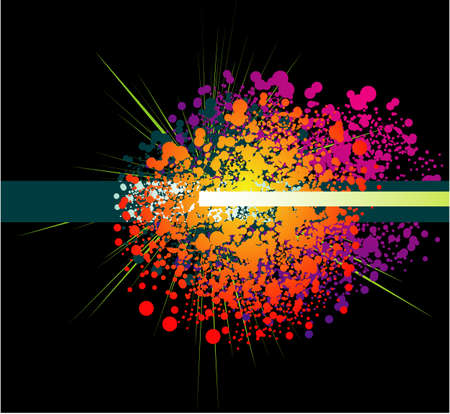 Colorful Abstract Rainbow grunge background Vector