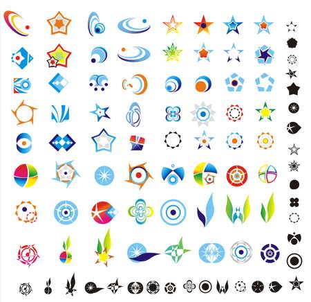 icons logo: 90 mehr Logo-Design-Elemente bereit zum Ausschneiden und einf�gen Illustration