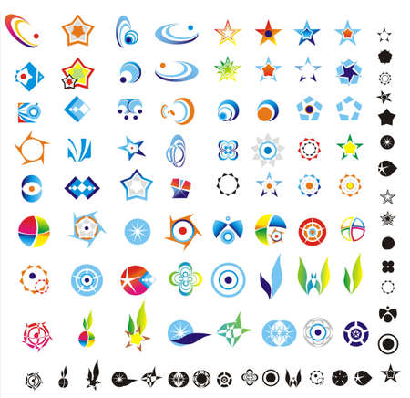 logos empresas: elementos de dise�o de logotipo m�s 90 listo para cortar y pegar Vectores