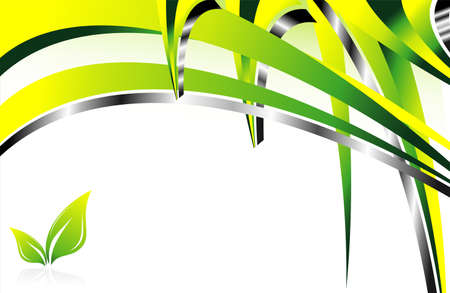 depliant: Abstract Environment Green background with leaves