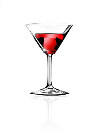 martini: luxury glass for wine and cocktail Illustration