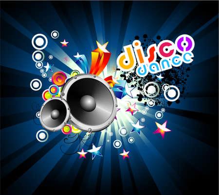 musique dance: Disco Dance Music Colorful Background Illustration