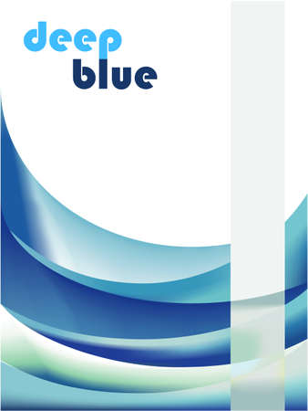 Deep Blue Business Delicate Background Stock Vector - 4896429