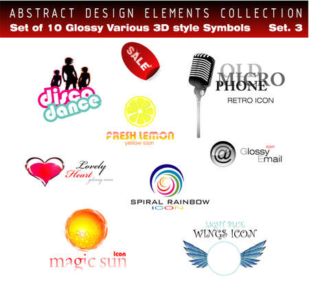 Collection of 3D-2D Design Elements Set 3 - Other set in my Portfolio Vector