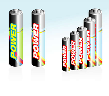 rechargeable: High detailed Battery glossy style icons Illustration