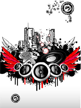 Big musical Event Disco Night template Stock Vector - 4896775