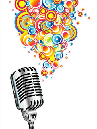 canta: Un microfono magico canto bolle colorate