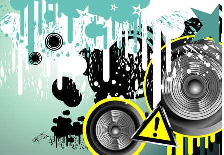 depliant: Grunge Danger music frame background