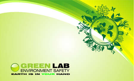 environment safety background template Illustration